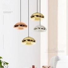 Подвесной светильник из скандинавского стекла, современные подвесные светильники для спальни, гостиной, кухни, E27, светильник, осветительный прибор, домашний декор