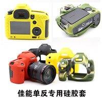 Livraison gratuite Étui En Silicone TPU Caoutchouc Gel De Protection Caméra Corps Peau de Couverture Sac Pour DSLR Canon 80D