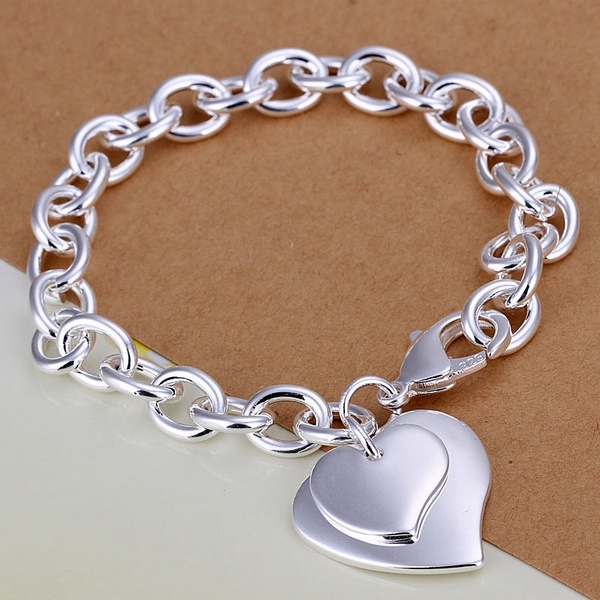Silver Plated Exquisite Soulmate Bracelet Fashion Personality Joker Temperament Charm Jewelry Birthday Gift H279