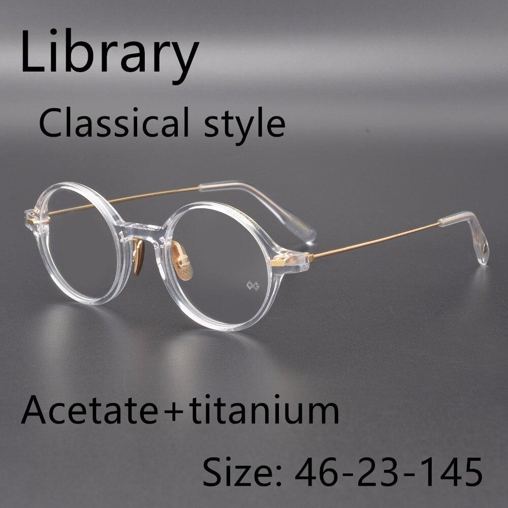 Di alta qualità ultralight In edizione Limitata stile regale BIBLIOTECA OG vintage ottico telaio occhiali Occhiali Miopia prescrizione di lenti