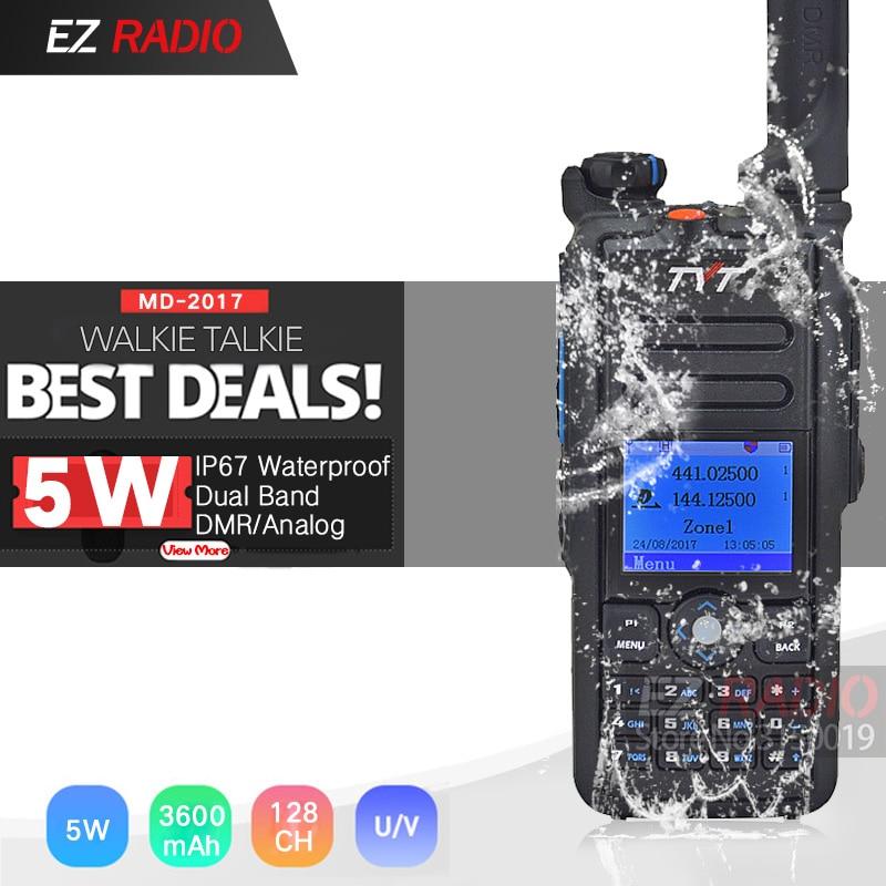 The Best Waterproof IP67 DMR Radio Dual Band TYT MD-2017 DMR Walkie Talkie GPS Better Than Baofeng DMR DM-8HX DM-5R DM-5R Plus