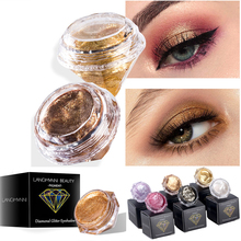 Diamond Box Shimmer Eye shadow Cream Waterproof Long Lasting Pigments Red Green Color Metallic Shadow