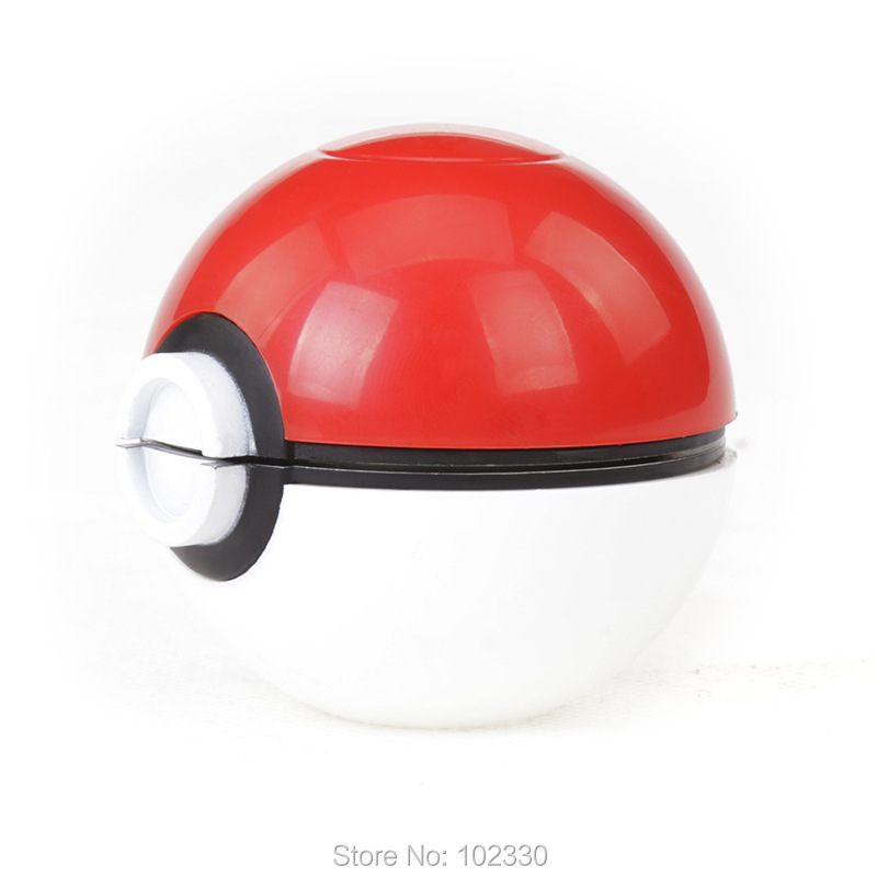 3 Layers Zinc Alloy ABS Plastics the Elves Pokemon and Pokeball Pikachu Ball 50MM Tobacco Herb Grinder with box