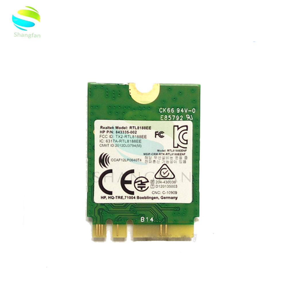 AW-NE259NF RTL8188EE 2.4 GHz 802.11n NGFF Wireless WIFI Card 792202-001/ 792609-001/843336-001 Network Card For HP Laptops