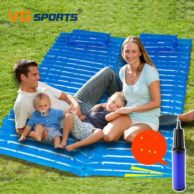 200*70*6 см Открытый надувные подушки спальный мешок коврик быстро наполняя воздух влагостойкий туристический коврик с подушкой сна бассейн