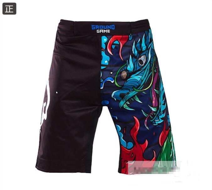 купить Ground Game Qinglong series MMA shorts fitness shorts training shorts. недорого