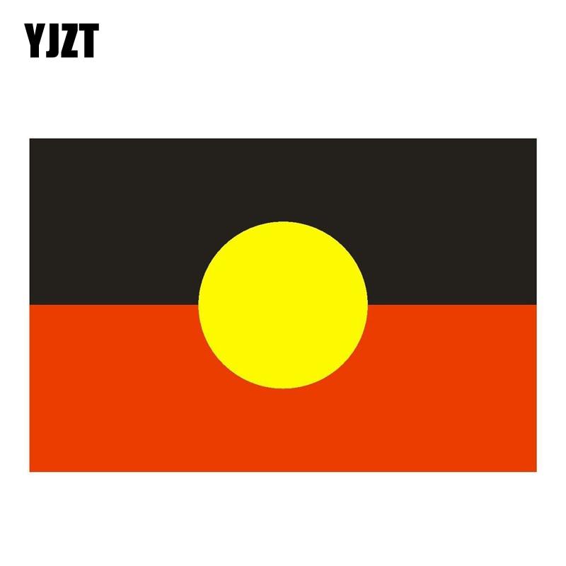 YJZT 12.7CM*8.3CM Car Accessories Australia Aborigines Flag Car Sticker PVC Decal 6-0803