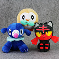 3 Estilo 15-20 cm Ir Sun Moon Anime Pokeball Poke Ir Rowlet Litten Popplio muñeco de peluche de Juguete