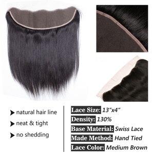 Image 2 - FABC бразильские кружевные фронтальные прямые волосы 13x4 свободная часть от уха до уха 130% плотность Remy волосы Бесплатная доставка 22 дюйма