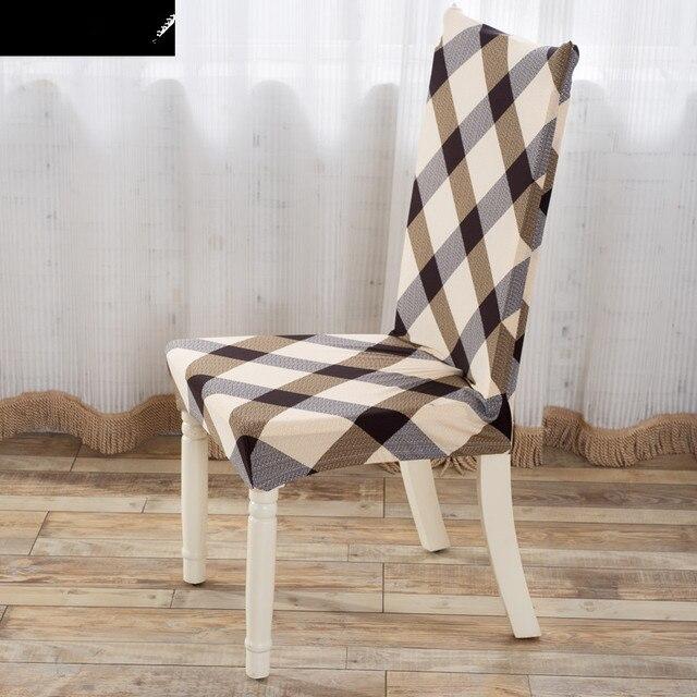 """כיסויי כיסא סטרץ פוליאסטר פסים סריג המודפס אלסטיים אוכל כיסא מכסה צד יו""""ר עטיפות לחתונה V43"""