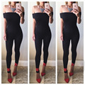 Sexy Slash Neck Strapless Jumpsuits Women Tracksuits Sport Suit