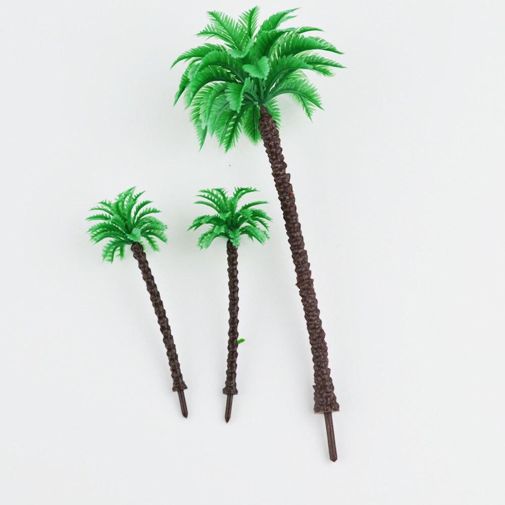 Oyuncaklar ve Hobi Ürünleri'ten Modeli Yapı Setleri'de 3 cm/5 cm/7 cm/9 cm ölçekli model sahil palm trees Minyatür Model Ağaçları MODELI peyzaj Tren Demiryolu Park Sahne'da  Grup 2