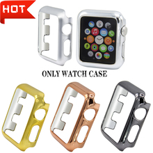Electroplated coating PC Watch case Protective Frames Bumper for applewatch 4 apple watch protector 44mm 40mm accesorios