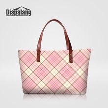 5728f7c1c Dispalang Neoprene Sacos de Ombro Das Mulheres Xadrez Rosa de Casamento Da  Senhora Tote Bag Designer Bolsas Feminina Bolsas De L..