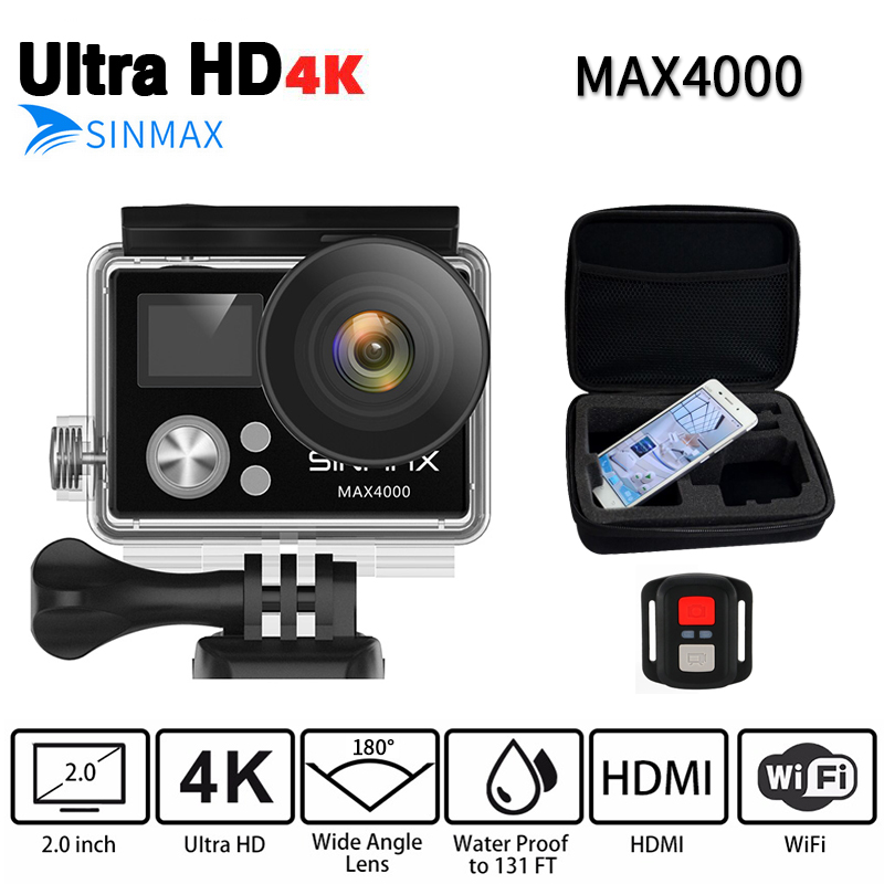 Ultra HD 4K wifi (OEM EKEN H9R) action camera 1080P Extreme cam With Remote Controller Diving 30M GO underwater sj DV pro cam original eken sports camera h9 h9r action camera 4k 25fps with remote 2 0 helmet ultra hd cam underwater go waterproof pro