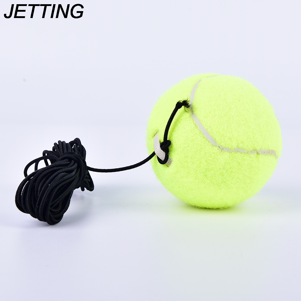 HOT  1Pc Exercise Ball Tennis Training Balls Trainer With Rubber Rope Trainer Train Tool Tennis Ball Sports