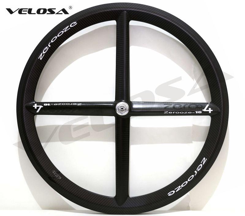 Full carbon 2017 New 4 spoke carbon wheel Zero 4 clincher tubular wheelset for Track or