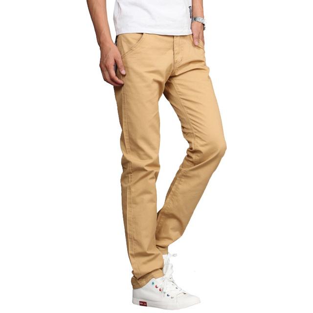 2016 nova moda dos homens em linha reta calças casuais magro calças de fitness calças compridas 6 cores 28-36 CYG164