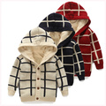male child sweater outerwear berber fleece thick child sweater cardigan 100% cotton female child baby wadded jacket sweater