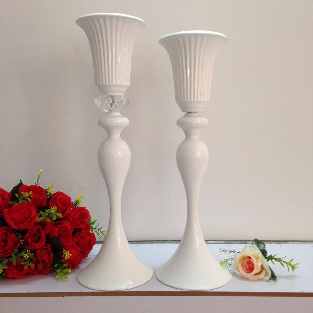 Wedding table centerpiece white flower stand cm h