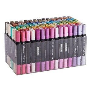 Image 5 - BAOKE 12/24/36/48/72/96/120 สีคู่เคล็ดลับน้ำมันหมึก marker ชุดสีเครื่องหมายปากกาสำหรับศิลปินวาด Mark ผู้ผลิต