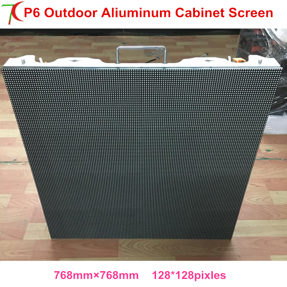 P6 outdoor color advertising wall led display board full screen ...
