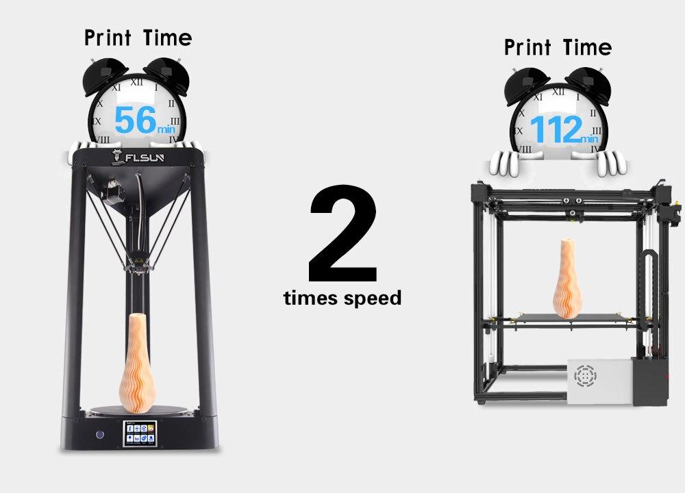 Flsun qq impressora 3d pré montado 95%