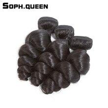 Soph queen Peruvian Virgin Hair Loose Wave Bundles  Human Hair Extension 3 Bundles Longest Hair PCT 20% Salon Hair