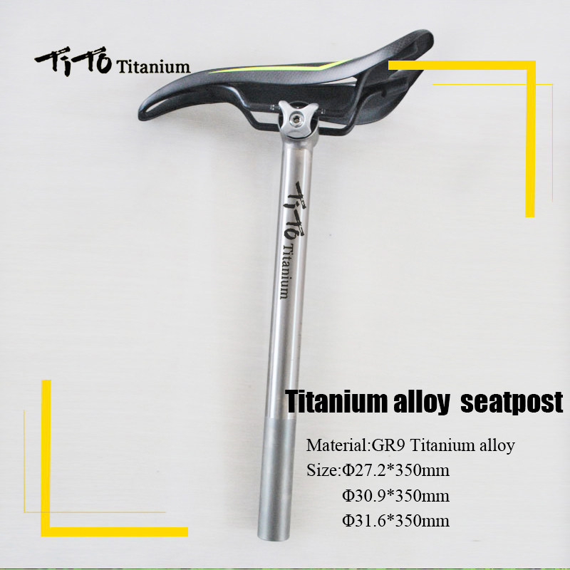 TiTo high quality CNC machining titanium alloy seatpost road bike MTB bike seatpost bicycle accessories 27.2mm/30.9mm/31.6mm rockbros titanium ti pedal spindle axle quick release for brompton folding bike bicycle bike parts