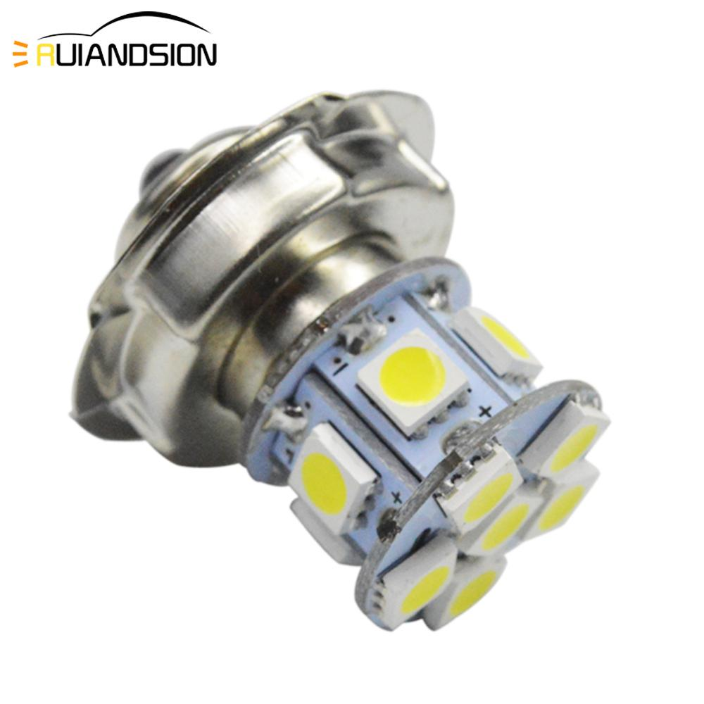 1PC 2W AC/DC 6V 12V Motorcycle Headlight Scooter Bulb P26S 6000k Light ATV Moto Motorbike Accessories Fog Lamp For Suzuki Honda