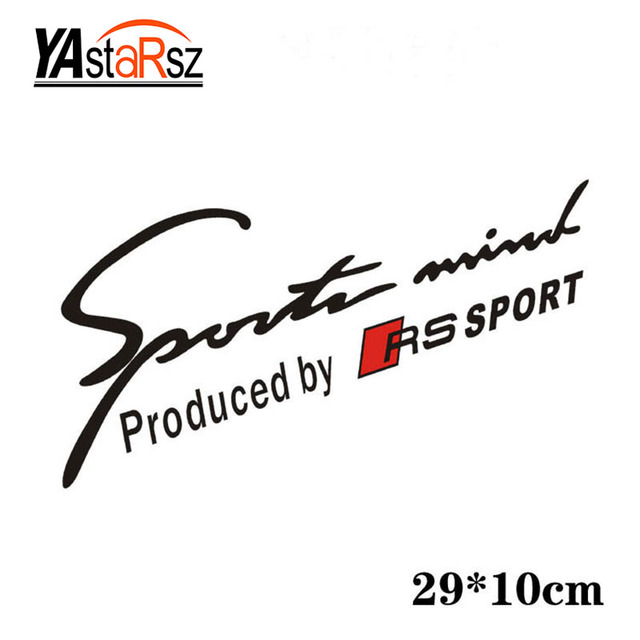 Newest Design Car Sports Mind Produced By Rs Sports Stickers Car