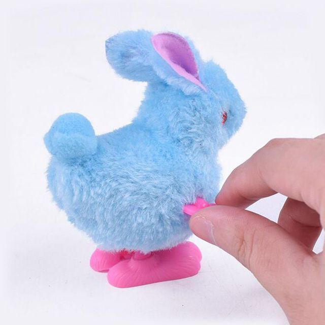 1 шт. пластиковые ПВХ плюшевые маленькие Мультяшные прыжки Кролик Детские заводные на цепочке Заводной механический игрушки для детей забавные игры
