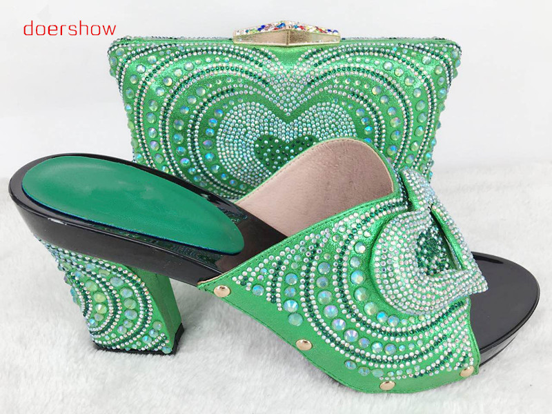 doershow  Matching Shoes and Bags Italy Italian Matching Shoes and Bag Set African Shoe and Bag Set for Party In Women!Hlu1-56 shoes and bag to match italian african shoe and bag set for party in women italian matching shoe and bag set doershow hjt1 25