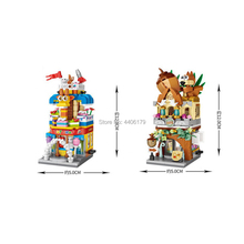 hot LegoINGlys city creators Street view Nuts Candy Store Toyshop Game Room micro diamond building blocks model bricks toys gift