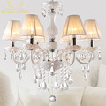 New Modern lustres de cristal Branco para Sala de estar Quarto lâmpada lustre de teto de cristal K9 lustres de teto interior