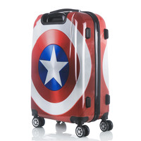 New High quality Captain America suitcase luggage/men&women Marvel