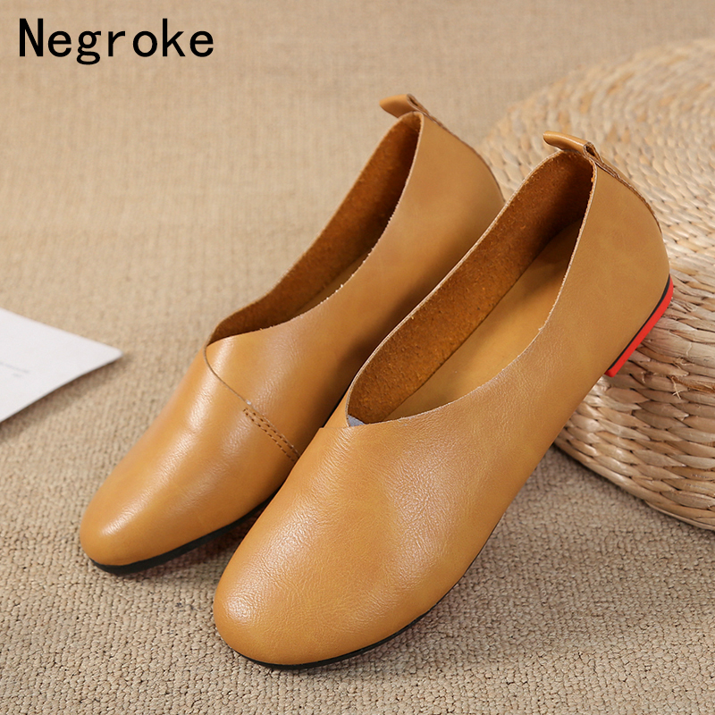 2019 New Women Loafers Handmade PU Leather Flats Casual  Shoes Slip On Womens Moccasins Boat Slipons Mocassin Femme2019 New Women Loafers Handmade PU Leather Flats Casual  Shoes Slip On Womens Moccasins Boat Slipons Mocassin Femme