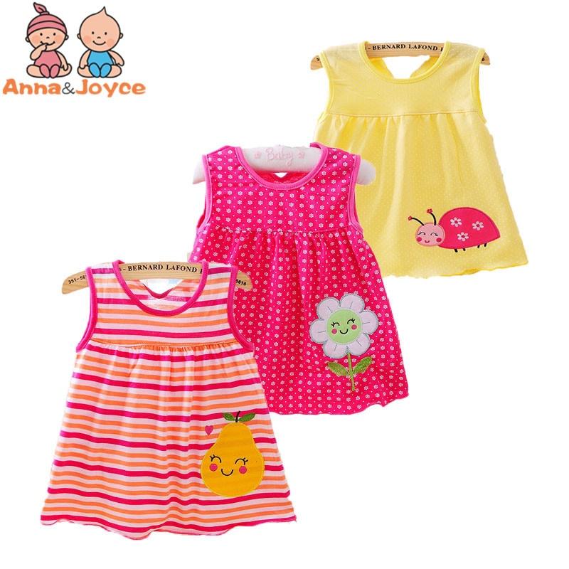 Groothandel Babykleding.Baby Meisjes Baby Zomerjurk 4 Stks Partij Groothandel Babykleding