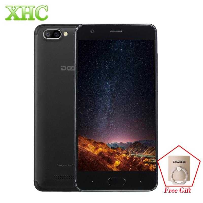 WCDMA 3G DOOGEE X20 5.0 inch Mobile Phones Android 7.0 720*1280 RAM 2GB ROM 16GB MTK6580 Quad Core Dual SIM OTA GPS Smartphones