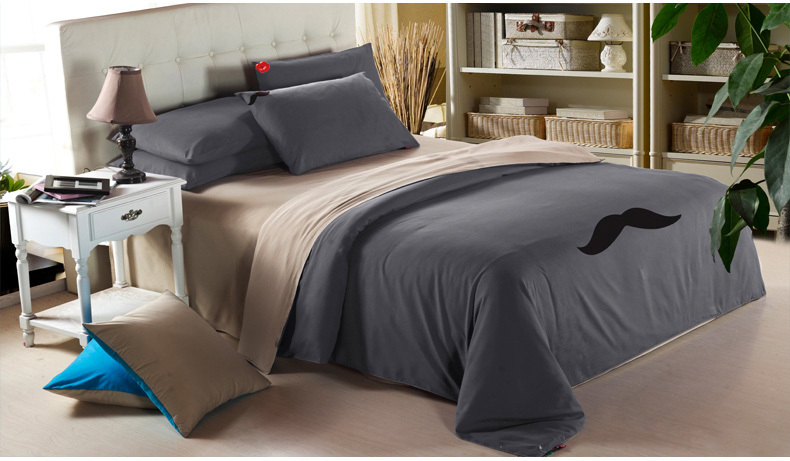 Good quality/brand duvet cover /mustache designers home textile/mens bedding  sets/