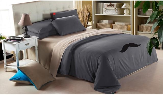 Good Quality Brand Duvet Cover Mustache Designers Home Textile Mens Bedding Sets