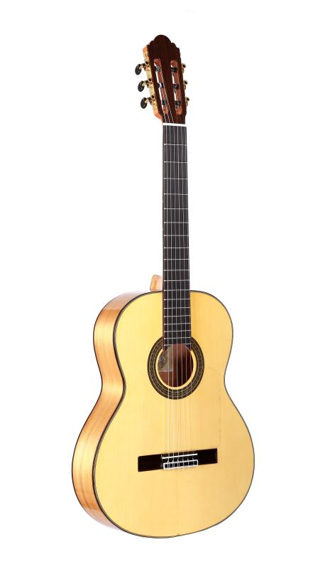 Professional Handmade 39 inch Acoustic Flamenco guitar With Solid Spruce/Aguadze Body +STRINGS,Classical guitar image