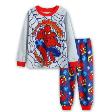 Brand New Baby Girls Pijamas Kids Autumn   Pajamas     Sets   Cotton Long Sleeve Girl Sleepwear Children Casual Clothing Spiderman Suits