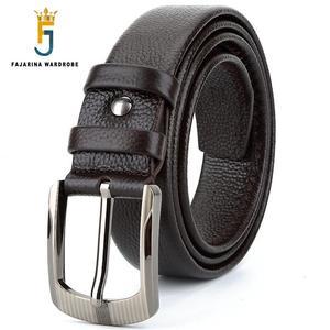 Image 2 - Fajarinaトップ品質ユニークなデザインジッパー本革メンズベルト男性の高級ブランド牛革レザーベルト3.8センチ広いN17FJ419