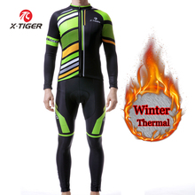 Padded-Pants Jersey-Set Cycling-Clothing Winter Thermal X-TIGER Road-Bike-Clothes MTB