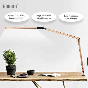 Long Arm  Desk Lamp Clip Office Led Desk Lamp Eye-protected Long Life Book Lamp For Bedroom  Led Light 3-Level Brightness&Color - DISCOUNT ITEM  33% OFF All Category