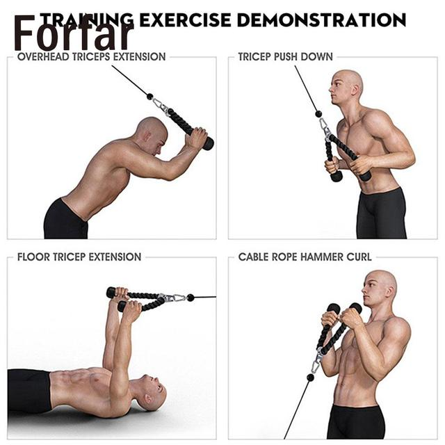 Fitness Rope Exercise Practical Sports Gym Equipment Down Arm Musculation  Equipment Tricep Rope Portable