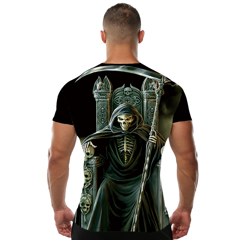 Skull T-Shirt Men Grim Reaper 1