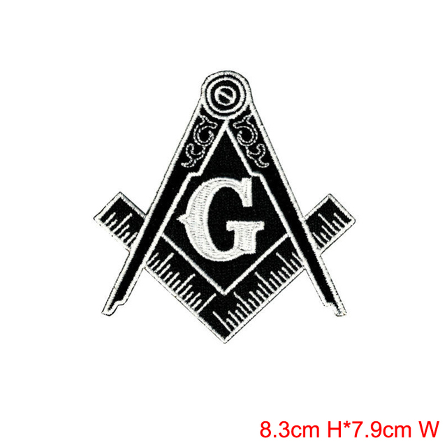 Patching Of Jeans Masonic Logo Gold Blue Or Black White Free