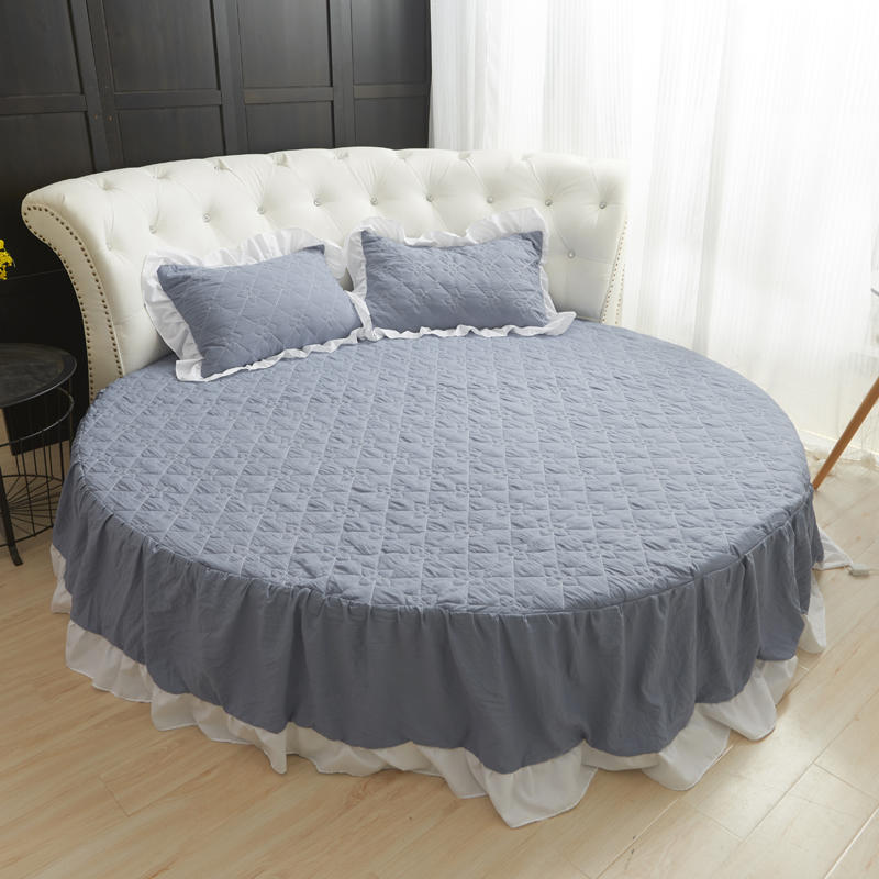Bed Skirt Round Sheet Solid Color